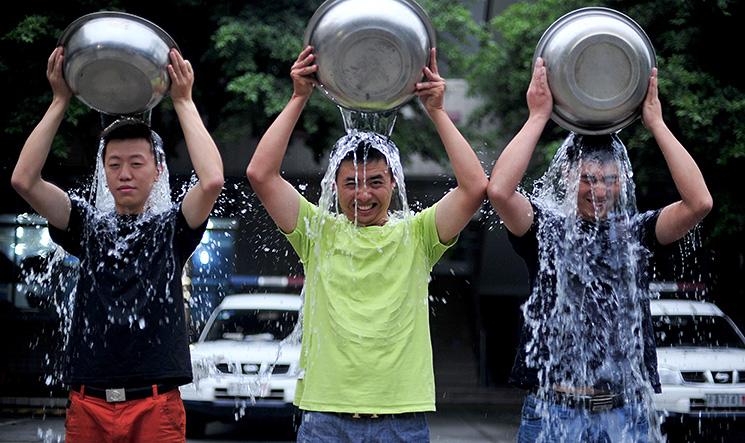 China jumps on the ice bucket challenge