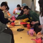 The Eagle Chapter making paper lanterns for Chinese New Year!