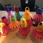 The Eagle Chapter made paper lanterns for Chinese New Year