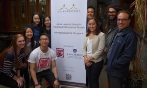 Hopkins Nanjing Alumni Club Members with Team Pengyou