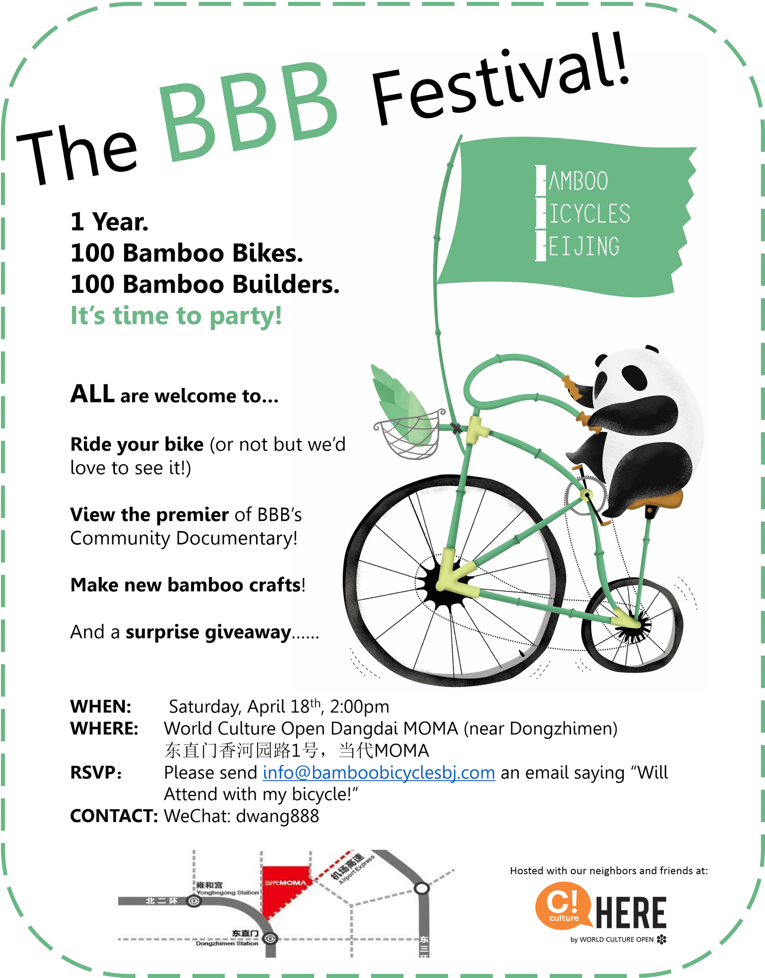The Bamboo Bicycles Beijing Festival!