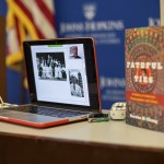 Dr. Gordon Chang video conferencing in and a shot of his new book, Fateful Ties