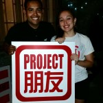 Jeremy from the Project Pengyou TAMIU Chapter with Team Pengyou's Alyssa