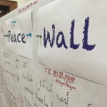 Peace Wall at UMD's Pengyou Day