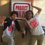 Leadership Fellows Gabriel and Mater at Sharpstown International School celebrate Pengyou Day!