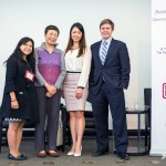 Moderators Holly Chang and Mei Yan with Speakers Serena Lin and Travis Thompson (minus Gabriel)