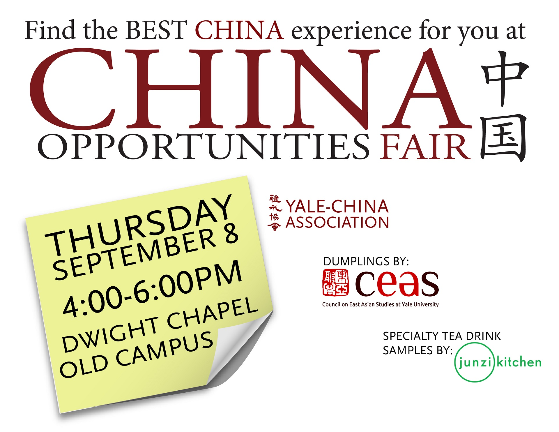 China Opportunities Fair at Yale University