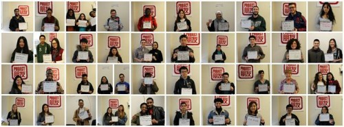 A #Pengyouday collage from the Project Pengyou Binghamton University Chapter.