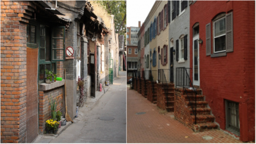 "Photo 1: LAPOUBELLE1969. ""A hutong, Beijing, China."" 2014. Photo 2: Life in the Alley. ""Exploring Snow's Court..."" 2013."