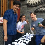 Interns Guantao and Jia Wei with Jesse from the U.S.-China Comedy Center