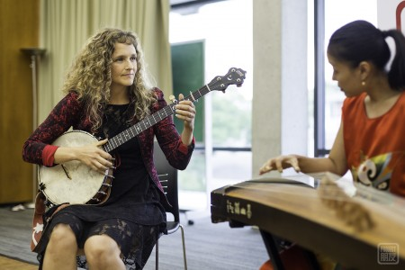 Abigail Washburn and Wu Fei give a moving performance