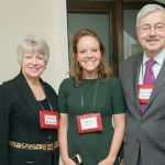 Project Pengyou Leadership Fellow and Grinnell Chapter founder, Meg Rudy, with the Branstads.