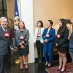 Team Pengyou shares a laugh with Ambassador Branstad.