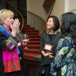 Holly Chang, Nancy Chen, and U.S. Embassy Deputy of Public Affairs, Anne Grimes engage in conversation.