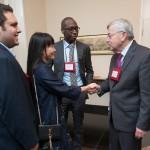Ambassador Branstad greets attendees.