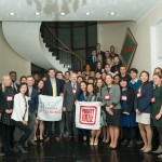 Students from 35 different institutions who are studying abroad in Beijing at the reception.