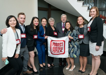 Team Pengyou with Mr. & Mrs. Branstad!