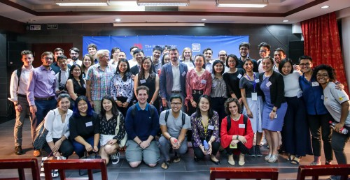 A group photo featuring the Beijing Center and Project Pengyou team and the guest speakers!