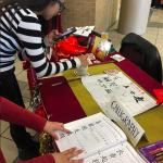 TAMIU Pengyous practicing Calligraphy